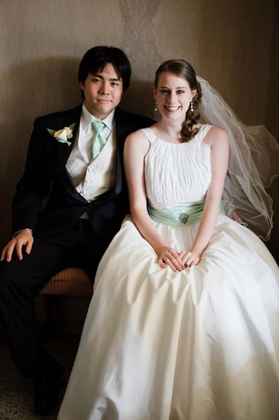 Sam and I on our wedding day