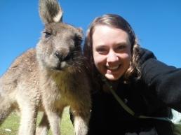 Selfie with a kangaroo! Pebbly Beach, New South Wales, Australia