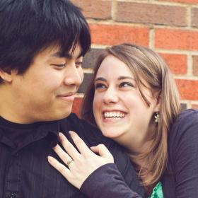 One of our engagement pictures