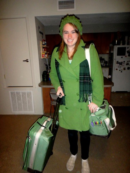 My usual travel gear. Can you guess my favorite color?