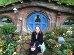 Hobbit hole in Hobbiton, Matamata, New Zealand
