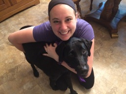 My best furry friend! My Labrador retriever, Sadie