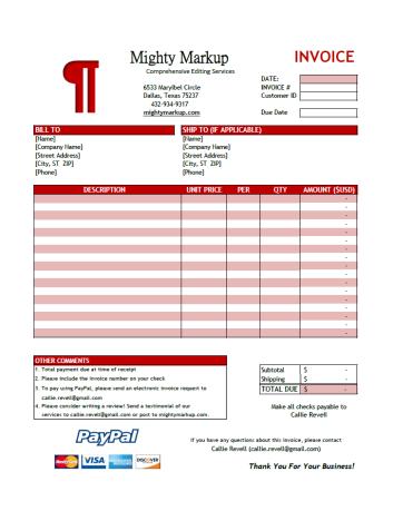 Sample Invoice Design