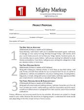 Sample Proposal Design