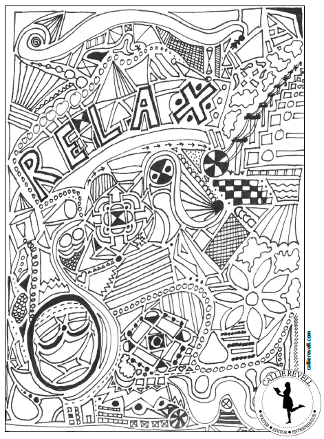 relaxcoloringpage